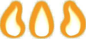 3 frame flame