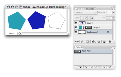 Different ways to create shapes