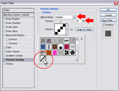 Figure 12. Setting pattern options