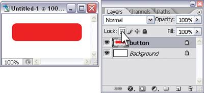 Locking transparent pixels