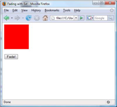 JavaScript fading example