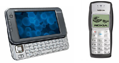 The Nokia N810 High-end Internet Tablet, and the most popular phone in the world � the Nokia 1100