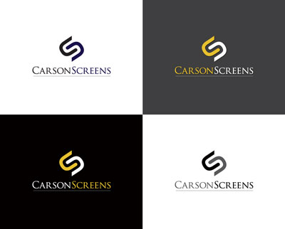 Carson Screens: one of Richard's winning logo entries