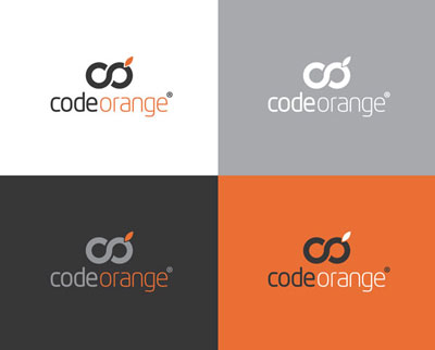 Code Orange: one of Richard's winning logo entries