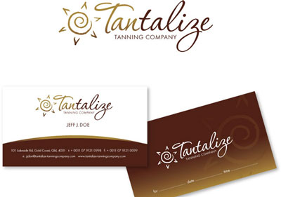 Tantalize: one of Richard's winning stationery designs