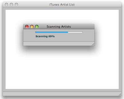 Figure 1. The iTunes Scanning Progress Indicator
