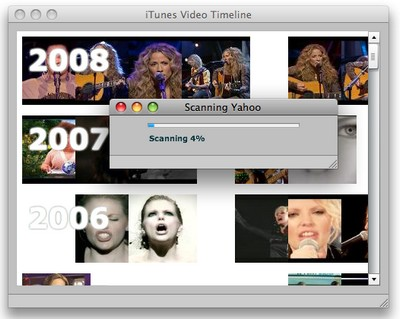 Figure 3. Loading videos from Yahoo