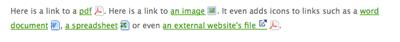Iconized links