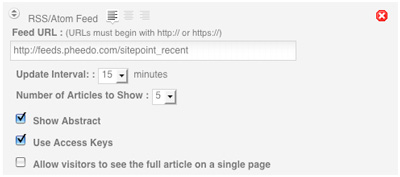 Adding an RSS feed to a mobile version of SitePoint