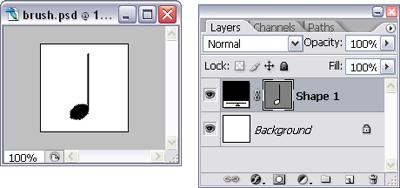 Using a vector shape