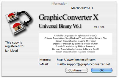GraphicConverter does a lot more than simply convert graphics