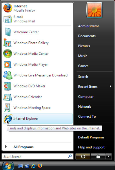 Internet Explorer: there's no hiding this browser!