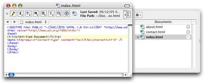 TextWrangler, a free text editor from BareBones Software