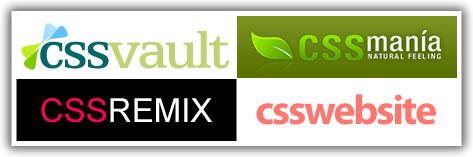 CSS Vault, CSS Mania, CSS Remix, and CSS Website