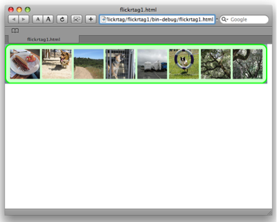 Our first version of FlickrTag