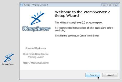 The WampServer installer