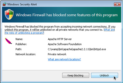 This security alert tells you Apache is doing its job