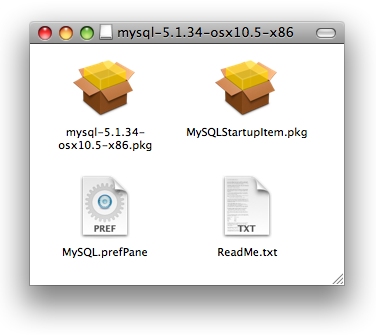 The MySQL Mac OS X package contains lots of goodies