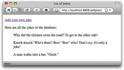Look, Ma! No SQL!