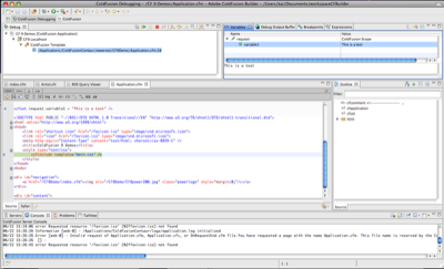 Debugging in ColdFusion Builder