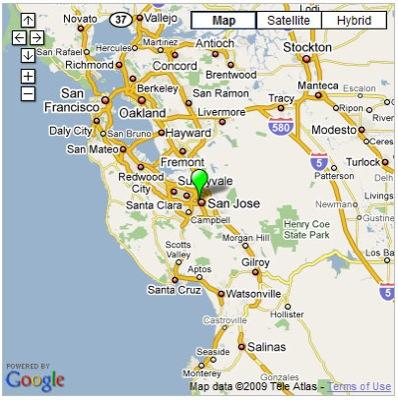 A Google map