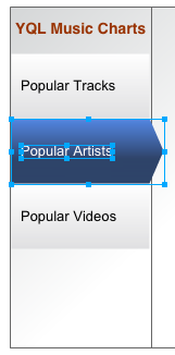 Selecting the Popular Artists arrow