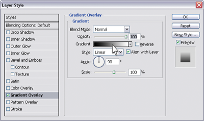 Gradient overlay options