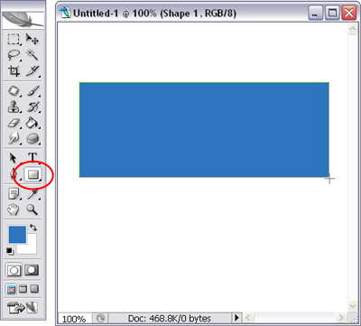 Figure 2. Drawing a colored rectangle