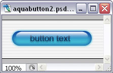 Basic aqua button on top of faint, striped background