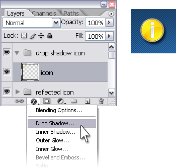 Adding a drop shadow