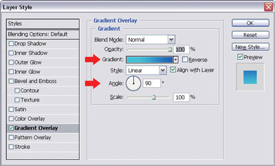 Applying a gradient overlay to the button