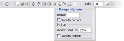 Tweaking the parameters of our starburst polygon