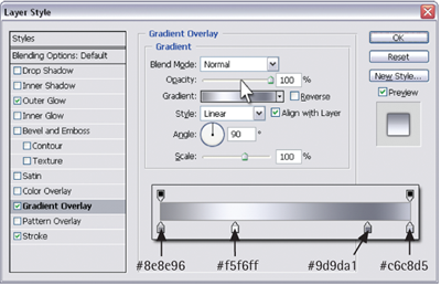 Adding gradient overlay
