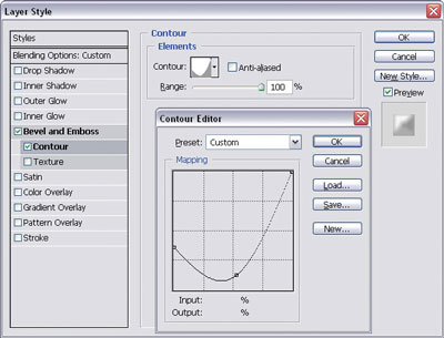 Changing the contour curve