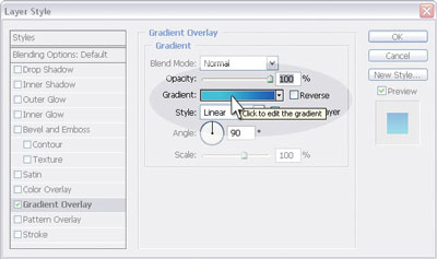 Editing the gradient