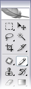 Figure 9. Selecting the Pencil tool