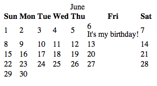 A basic, unstyled version of the calendar