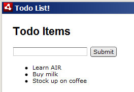 Our to-do list starts to take shape
