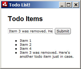 Our final to-do list AIR application