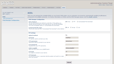 Flexibility in the MOD Manager