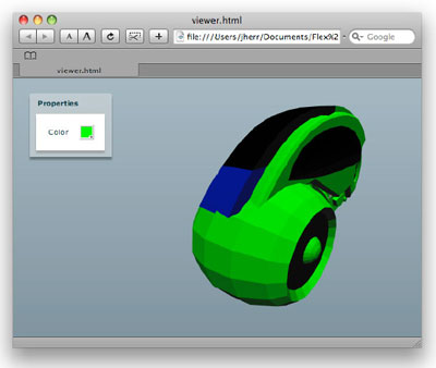 Figure 4. Our completed light cycle configurator