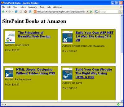 SitePoint books at Amazon