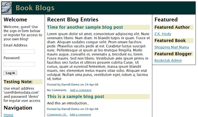 Our BlogEntryList page