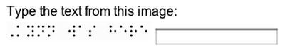 Braille CAPTCHA