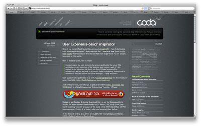 Coda web page