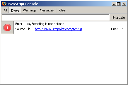 Firefox's JavaScript Console