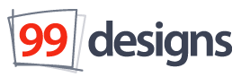 Figure 3. The 99designs logo, created by the 99designs community after the site design was complete.