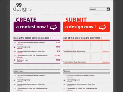 Figure 5. A more advanced version of the 99designs concept