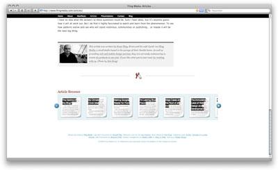 Fling Media web page