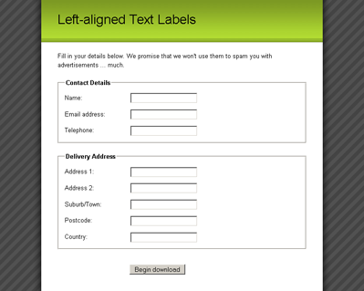 Fancy Form Design Using CSS Article — SitePoint